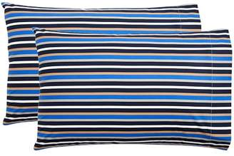 Pottery Barn Teen Stockholm Stripe Extra Pillowcases, Bright Blue, Set of Two