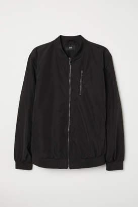 H&M Nylon-blend Bomber Jacket - Black