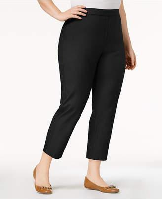 Alfred Dunner Plus Size Upper East Side Pull-On Straight-Leg Pants