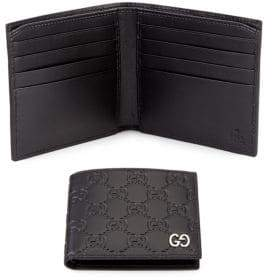 Gucci Embossed GG Leather Bifold Wallet