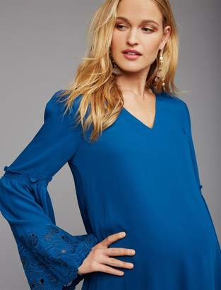 Embroidery Maternity Dress