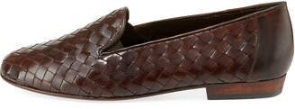 Sesto Meucci Nader Woven Leather Loafers, Tan
