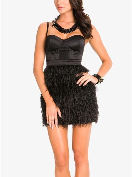 Milana Feather Fringe Dress