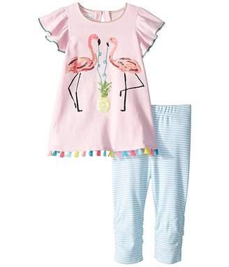 ab6c371f7e3e Mud Pie Flamingo Tunic and Capris (Toddler)