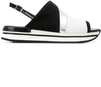 Hogan panelled sandals