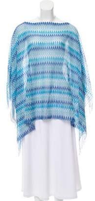 Missoni Patterned Knit Poncho w/ Tags