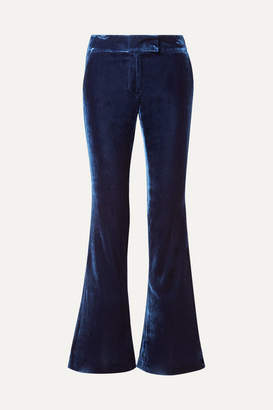 Rachel Zoe Hall Velvet Flared Pants - Navy