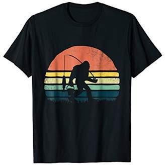Awesome Fishing Bigfoot Sunset T-Shirt Men Women Kids