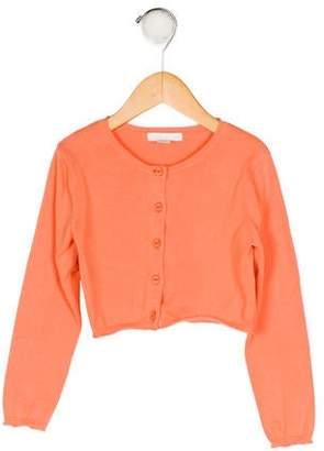 Marie Chantal Girls' Knit Button-Up Cardigan