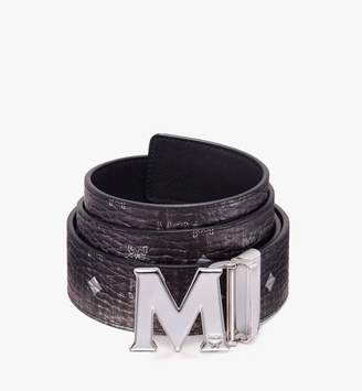 "MCM Claus Flat M Reversible Belt 1"" In Monogram Leather"