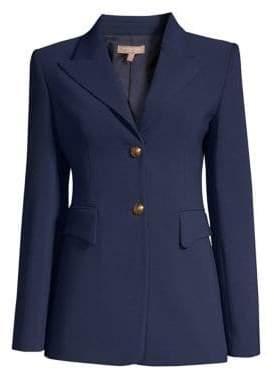Michael Kors Stretch Crepe Wool Blazer