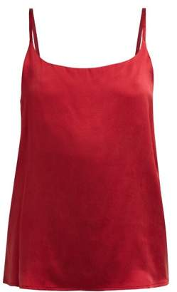 Asceno - Silk Camisole Top - Womens - Burgundy