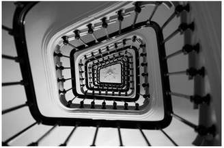 Pottery Barn Paris Apartment Stairs in Black and White by Rebecca Plotnick