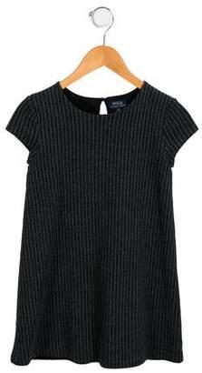 Polo Ralph Lauren Girls' Striped A-Line Dress