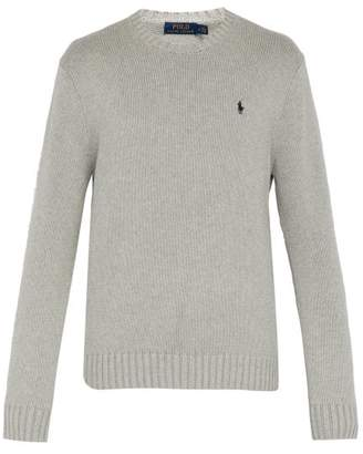 3692266049789 Polo Ralph Lauren Crew Neck Knit Cotton Sweater - Mens - Grey