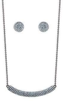 Nina Angelee Swarovski Crystal Necklace and Stud Earrings Set