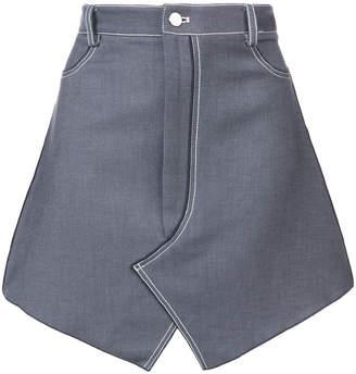 Dion Lee stitch denim mini skirt