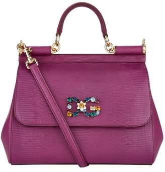 Dolce & Gabbana Medium Iguana Print Sicily Bag
