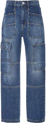 SLVRLAKE Denim Savior High-Rise Straight-Leg Cargo Jeans