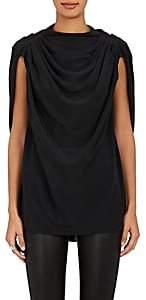 Rick Owens Women's Claudette Crepe Blouse-Black