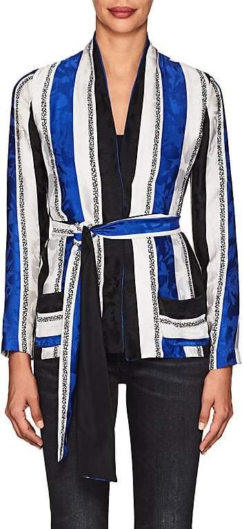 Warm Women's Maison Striped Silk Jacket