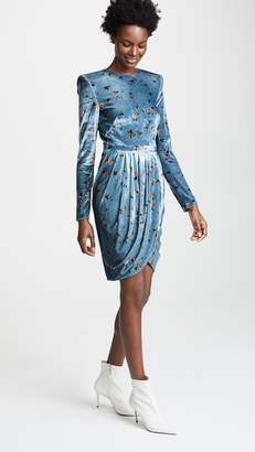 Philosophy di Lorenzo Serafini Drape Front Mini Floral Dress