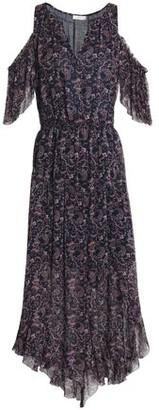 Joie Cold-Shoulder Printed Silk-Georgette Dress