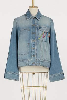 Mira Mikati Late patch denim jacket