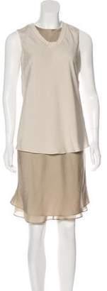 Brunello Cucinelli Monili-Trimmed Dress Set