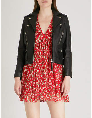 The Kooples Leather jacket with zip detail