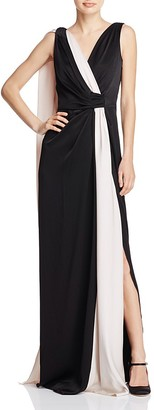 PAULE KA Draped Color-Block Gown $1,315 thestylecure.com