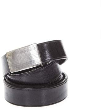 Golden Goose Black Metal Buckle Belt In Leather