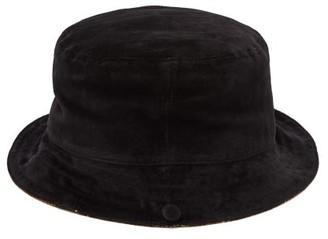 Gucci Reversible Silk Twill & Velvet Bucket Hat - Womens - Black