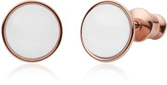 Skagen Sea Glass Rose-Gold-Tone Stud Earrings