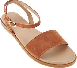 Halston H By H by Suede Sandals with Ankle Strap - Chase
