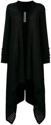 Rick Owens asymmetric long cardigan