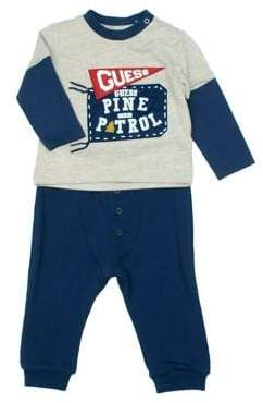GUESS Boy's Two-Piece Shirt And Pants Set