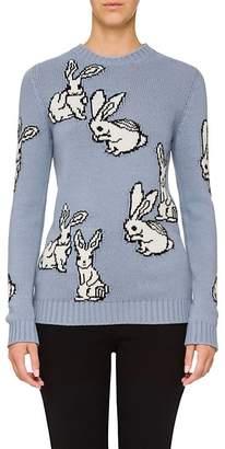 Prada Women's Bunny-Motif Wool-Cashmere Sweater