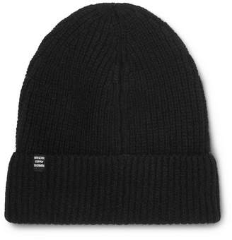 Herschel Cardiff Ribbed Cashmere and Wool-Blend Beanie - Men - Black