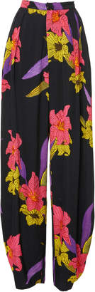 DoDo Bar Or Sally Floral Crepe Harem Pants
