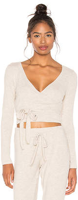 Beyond Yoga All Around Wrapped Cropped Top