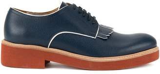 DSQUARED2 contrast fringed derby shoes
