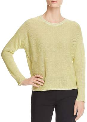 Eileen Fisher Marled Organic Linen Sweater