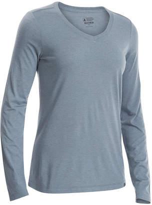 Eastern Mountain Sports Ems Women's Techwick Vital Long-Sleeve V-Neck T-Shirt