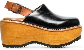 Marni leather platform 80 slingback clogs
