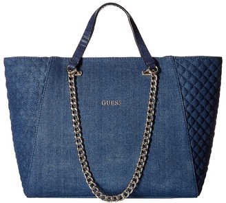 GUESS Nikki Chain Tote $110 thestylecure.com