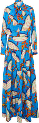 Stella Jean Printed Crepe Maxi Dress