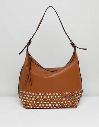 Lavand Slouchy Shoulder Bag With Eyelet Detailing