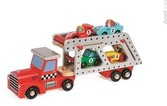 Janod Car Transporter Wood Toy