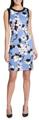Tommy Hilfiger Clarice Scuba Printed Sleeveless Sheath Dress